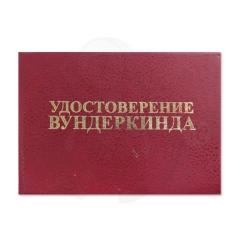 Удостоверение Вундеркинда