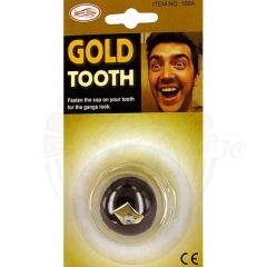 Зуб «Фикса» золотой с брюликом