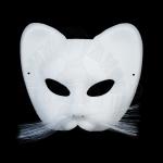 Полумаска Кот белый